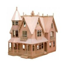Doll House Kit Wooden Garfield Dollhouse Mansion Unfinished Gift Ten Large Rooms