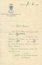 Comitato per la Preparazione Civile in Caso di Guerra - Palermo 1915