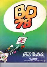 BD 78 ANNUAIRE DE LA BANDE DESSINEE DANS LA COMMUNAUTE FRANçAISE DE BELGIQUE