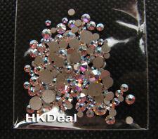 Mix 5 Size Swarovski 2058 Crystal AB Flatback Rhinestone Crystal Nail Art M118
