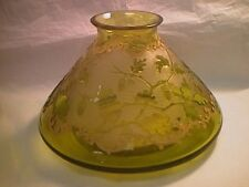 "MONT JOYE, FRANCE, ART GLASS CONICAL VASE 6 1/2"" TALL, 9 3/4"" DIAMETER. BOTTOM"