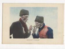 Aanpijpen Volendam Netherlands Vintage Postcard 227a