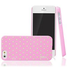 [PINK] MobC iPhone 5S [Cotton Candy] Polka Dot Cute Thin Hard Case+Screen Film