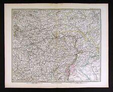 1882 Stieler Map - Russia Moscow Saratow Kasan Jaroslaw