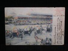 """Antique POSTCARD c1905 Chicago, IL. """"DERBY DAY"""" Automobile Race (X115)"""