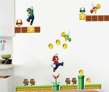 Giant Super Mario Wall Decor Vinyl Decal Sticker Removable Nursery Kids Baby Art