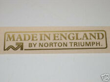 Made In England by Norton Triumph vinyl peel and stick decal 60-4556