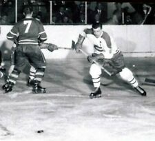 MAURICE RICHARD VS TIM HORTON TORONTO LEAF  HOCKEY PHOTO  8 X 10