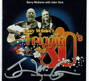 BARRY MCGUIRE'S STORE - TRIPPIN THE 60'S CD + BOOKLET -  SIGNED BY BARRY MCGUIRE