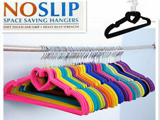 2016-40 Black Nonslip Velvet Hangers Coat Clothes Closet Space Saving Slim AU