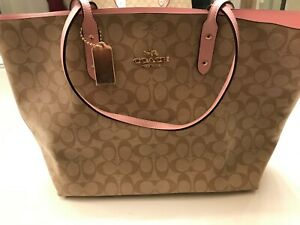 NEW COACH 76636 TOWN TOTE IN SIGNATURE CANVAS BAG MSRP: $350-FREE SHIPPING!