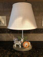 CoCaLo Safari Animals Zebra Lion Lamp w/Shade - Discontinued