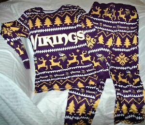 Minnesota Vikings Christmas pajamas WOMEN'S MEDIUM New with tags FOCO purple