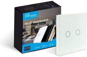 WiFi Smart Light Switch  Smart Light Glass Switch - 2 Gang