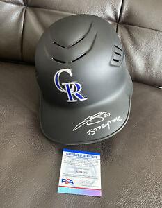 "Trevor Story Signed Colorado Rockies Batting Helmet ""Storytime"" Psa/Dna Coa 🔥"