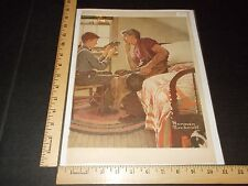 Rare Original Vintage 1953 Norman Rockwell Color Advertising Art Print
