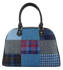 Ladies Authentic Harris Tweed Patch Bag Blue LB1022 COL 2