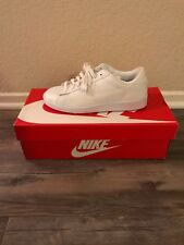New Nike Womens Tennis Classic Leather White Shoes Size 7.5