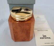 Savinelli Wood Table Lighter IM Corona Burl Bird's Eye butane -Out of Production