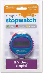 Learning Resources Simple Stopwatch   KS1 Maths Science