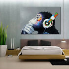 1Pcs Peinture Huile Gorille Tableau Toile Art Abstraite Moderne Pr Maison Mural