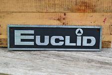 1970's Allis Chalmers Euclid R-22 Rock Truck Front Grill Emblem Big Thick Chrome
