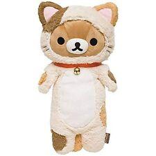 San-X Rilakkuma Nonbiri Neko Cat Kitten Hug KutaKuta Plush Doll Stuffed Toy F/S