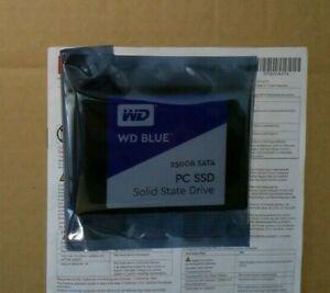 GENUINE ORIGINAL 250GB SSD WD BLUE PC SSD SATA 2.5 WDS250G1B0A-00H9H0 ( NEW )