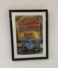 More details for northern soul; lambretta, vespa, scooters at the twisted wheel, framed print