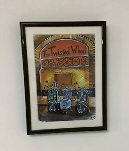 Northern Soul; Lambretta, Vespa, Scooters at the Twisted Wheel, Framed Print