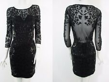 STUNNING WOMENS ALL SAINTS IVY LS DRESS HEAVILY EMBELLISHED BEAD SEQUIN 10 £298