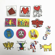 Keith Haring Google Stickers For Snowboard Laptop Luggage Car Travel Bags 14Pcs