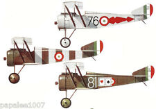 "Model Airplane Plans (FF): Hanriot HD.1 1/12 Scale 28""ws for .049ci (.5 - .8cc)"