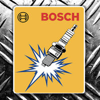 BOSCH SPARKPLUG RETRO CAR STICKER vw hotrod 70x90mm