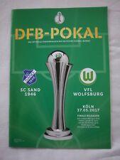 Orig.PRG  DFB Pokal Frauen  2016/17  FINALE   VfL WOLFSBURG - SC SAND 1946 ! TOP