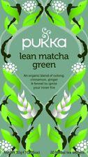 Pukka Organic Herbal 20 Tea Sachets Teabags - Lean Matcha Green