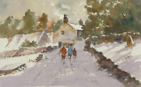John A. Case - 20th Century Watercolour, A Winter Stroll