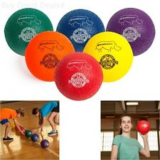 Champion Sports Rhino Skin Dodgeball Set 6 Assorted Colors Balls Tough Skin