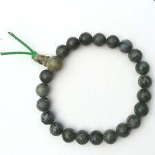 Connemara marble power beads. Buddha Irish jewellery and gifts stretch bracelet