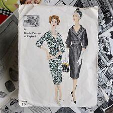 50s Londra Couture Vestito di Ronald Paterson per il design vintage VOGUE Couturier