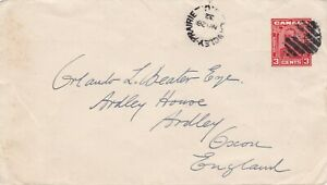Canada 1932 Langley Prairie BC 3c PSE Cover to Ardley Oxfordshire UK