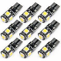 10X T10 / W5W 5SMD LED Canbus Error Gratis Coche Lado Cuña Bombilla 6500K 150LM