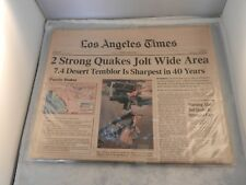 TWO STRONG QUAKES JOLT WIDE AREA LOS ANGELES TIMES NEWSPAPER JUNE 29,1992