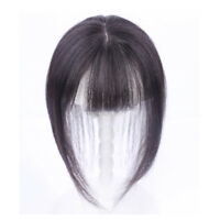 Hand-made mono 100% Remy Human Hair Topper Hairpiece Toupee Top Piece With Bangs