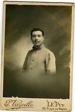 Photo Cab Baptiste Allary pose militaire 38ème régiment LE PUY belle moustache