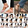 Damen Riemchen Ballerina Flach Pumps Halbschuhe Sommer Schuhe Loafers Sandalen