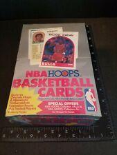 1989 NBA HOOPS BASKETBALL BOX series two FACTORY SEALED - Michael Jordan (cover)