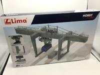 """Lima Hobbie Line HL8000 GRU A PORTALE CON 2 CONTAINER DA 20"""". Scala HO 1:87"""