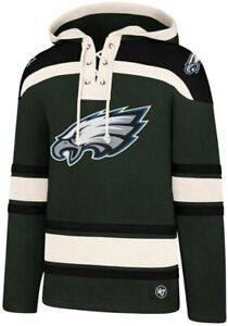 Philadelphia Eagles NFL '47 Green Lacer Hoodie Pullover Sweater Adult 2XL XXL