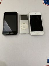 3 Apple iPod Mp3 Players-For Parts/As-Is - Lot
